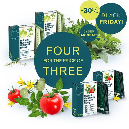 Campaign: Nutrient for herbs and lettuce 4 for the price of 3